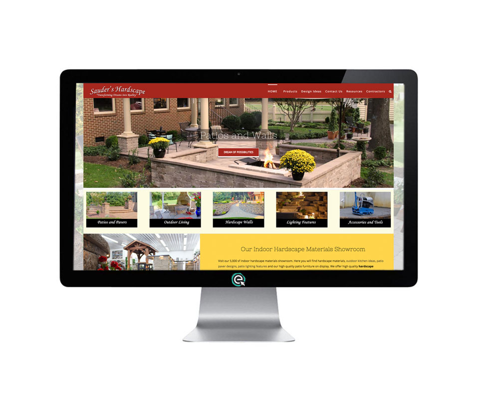 Hardscape website Design Mobile Friendly