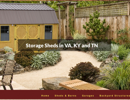 A Storage Shed Website for Timberline Barns of Rose Hill, VA