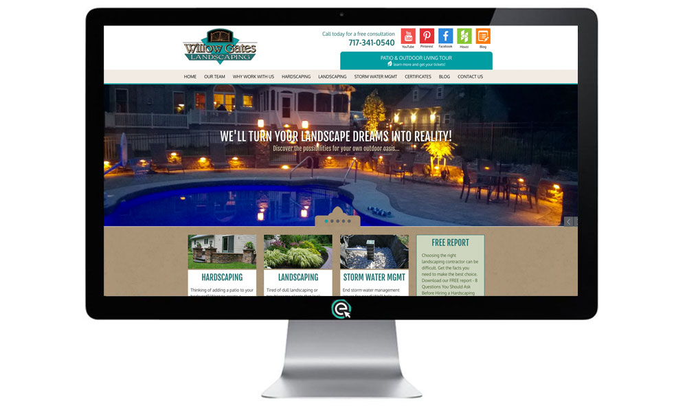 Landscaper In Lancaster Pa Unveils Updated Website Willow Gates Landscaping