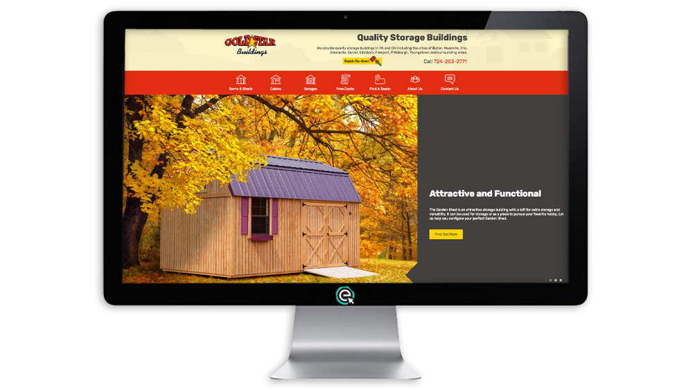 Shed Website Design OHIO