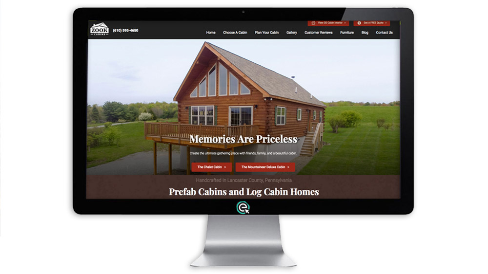 Website Design for Cabin Home Builder
